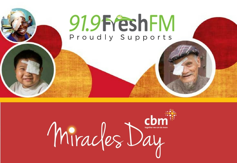 FRESH FM GLADSTONE MIRACLES DAY BANNER