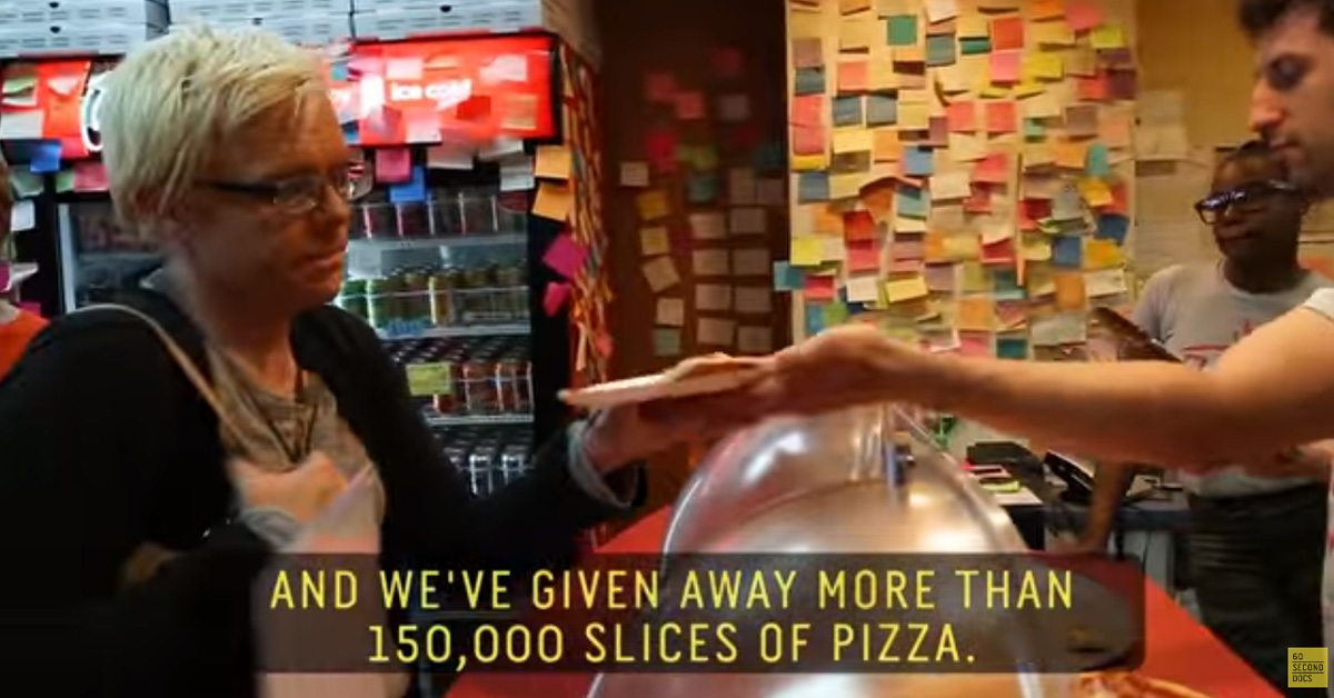 Pizza shop has served over 150,000 free slices of pizza to homeless