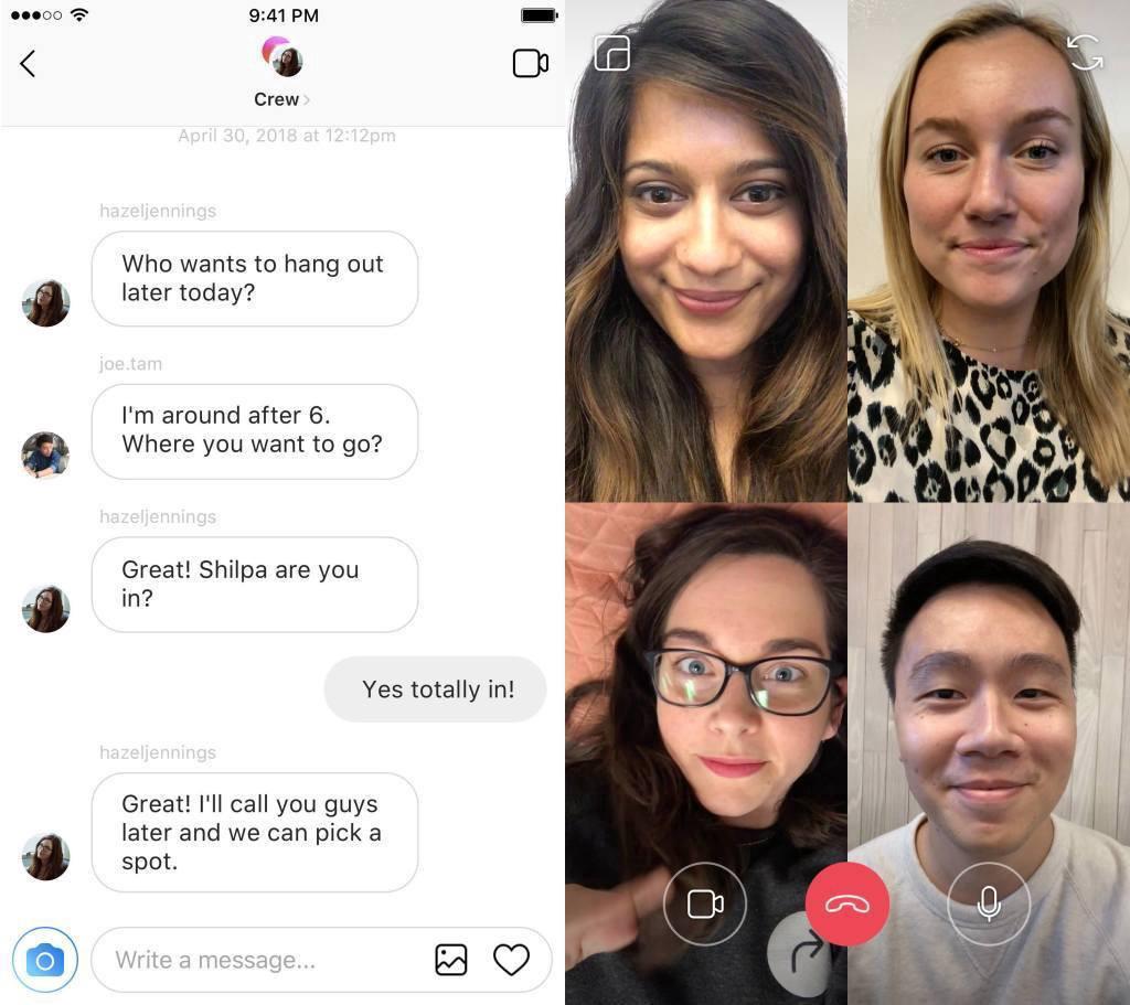 instagram group call screenshot