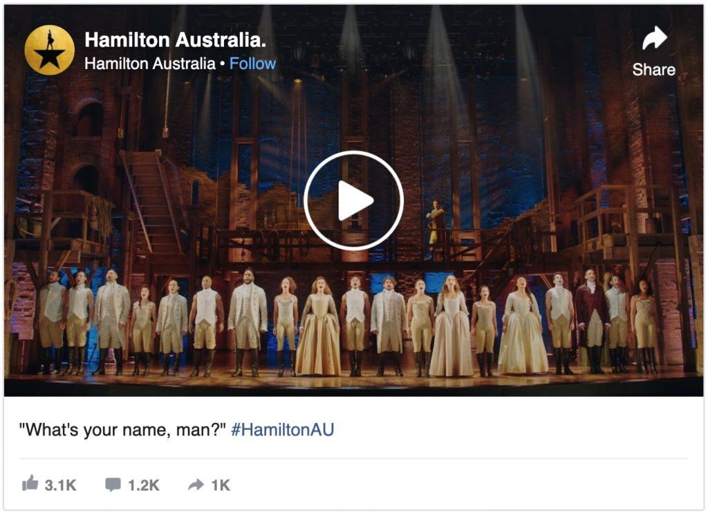cast of hamilton australia performing What's Your Name, Man?